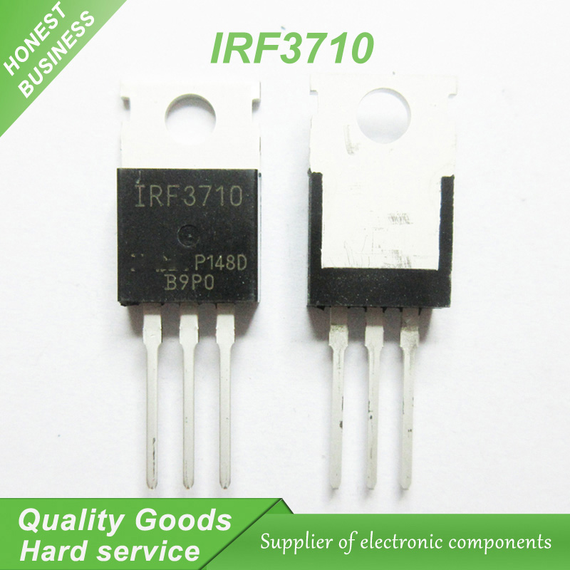 10 adet IRF3710 IRF3710PBF MOSFET MOSFT 100 V 57A 23 mOhm 86.7nC TO-220 yeni orijinal