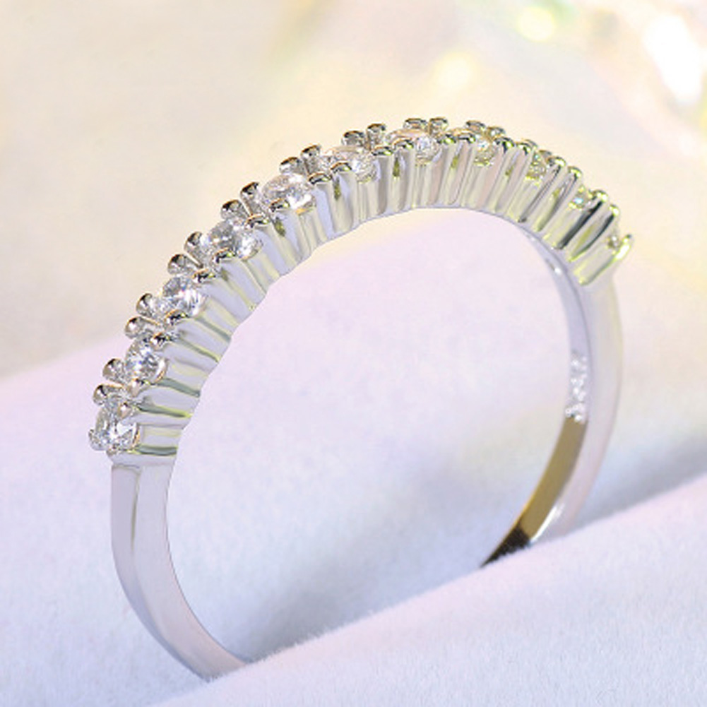 Fashion New Style Double Circle Mid Open Finger Ring Party Jewelry Micro Pave CZ Adjustable Rings For Women